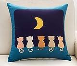 QWE Kissen Vier-seitige Rückenlehne Kopf Kissenbezug Quadrat Kissen Cartoon Kissen Kern Kissen Auto kleines Tiersofa,45 * 45cm