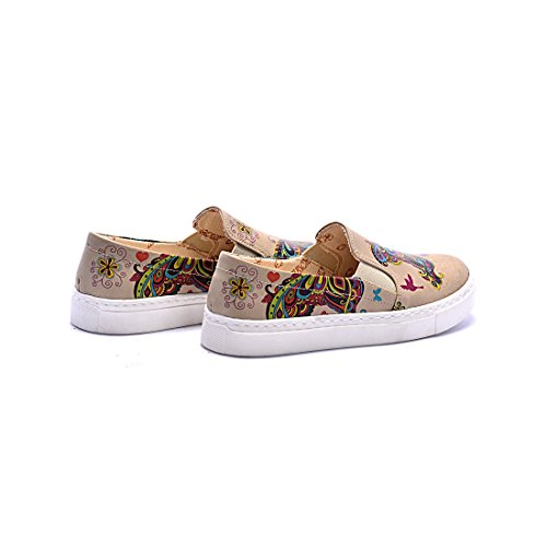 Goby UK VN4210-COC4007, Mocassins Pour Femme Multicolore COC4007 Kids Sneakers Butterfly