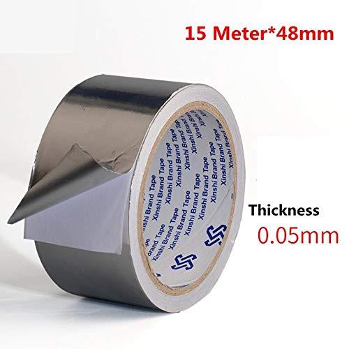 Cinta papel aluminio plateado Sellado adhesivo Resistencia