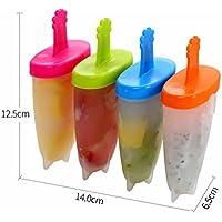 BIANJESUS Eiscreme-Formen Silikon-6Pcs Popsicle-Formen Stellten Freies Silikon-Eis-Nicht Spill-Deckel-Reinigungs-Bürsten-Faltender... preisvergleich bei billige-tabletten.eu