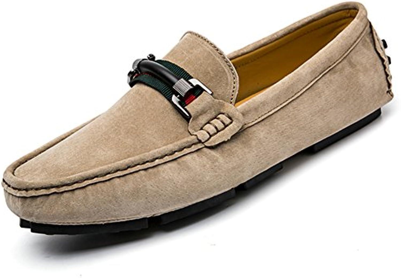 Mocasines Hombre Moda Transpirables Ante Conducción Zapatos Slip on Senderismo