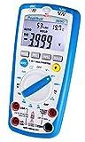 PeakTech 3690 - Digitales 5-in-1 Multimeter, Luxmeter, Schallpegelmessgerät, Luftfeuchtigkeitsmessgerät, Spannungsmesser, Thermometer, Handmultimeter, Durchgangsprüfer, Messgerät, 4000 Counts - 600 V