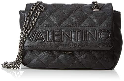 Mario Valentino Valentino by Damen Licia Tornistertasche, Schwarz (Nero) 7x13.5x18.5 cm