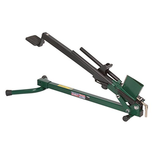 The Sealey LS450H Log Splitter is a great entry level log splitter, perfect for smaller sized logs. At only 9kg its fairly light, maneuverable and its compact design makes it easy to store away. It has a fairly simple design and is easy to use, simply insert your log, 4 or 5 pumps on the foot pump and the log splits and fall to the side.