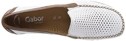 Gabor Damen Comfort Basic Slipper Weiß (Weiss/Copper)
