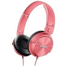 Philips SHL3060 - Auriculares de diadema cerrados tipo DJ (1000 mW, 1.2m) color rosa