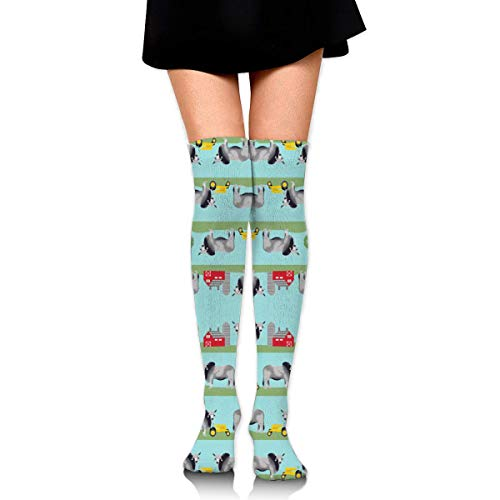 CVDGSAD Brahman Cattle Fabric Farm Ranch Design (2708) Compression Socks Foot Long Stockings Knee High Socks for Men Women Supports Sport Running Cycling Football Slim Leg Travel Medical Nursing