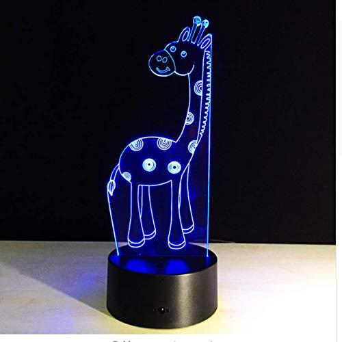 XINGXIAOYU Nette Gaffe 3D Lampe Führte Nachtlicht Mit 7 Farbwechsel Remot Touch Tischlampe USB Optische Täuschung Atmosphäre Lampe