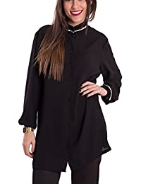 Susana Escribano I1617BL003/SGG, Blusa para Mujer, Negro, 62 (Tamaño del Fabricante:SGG/62)