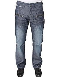 neuf avec étiquette ENZO Hommes Mode Créateur Noir Jeans droit ajusté tout taille taille une tendance
