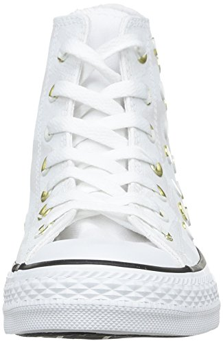 Converse, All Star Hi Canvas Studs, Sneaker, donna White