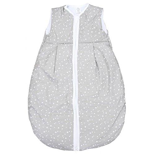 TupTam Baby Schlafsack Wattiert ohne Ärmel ANK001, Farbe: Sterne Grau 2, Größe: 92-98