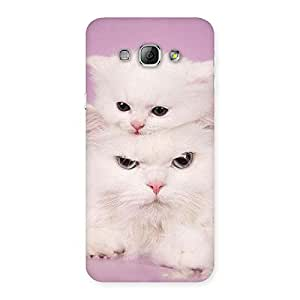 Delighted Kitten Family Back Case Cover for Galaxy A8