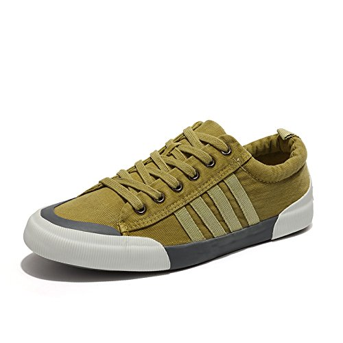 HOTSTREE Casual Shoes Men Canvas Sneakers Lace-Up Lightweight Comfortable Breathable Men Shoes Zapatillas Hombre 2019 Summer Green 7 -