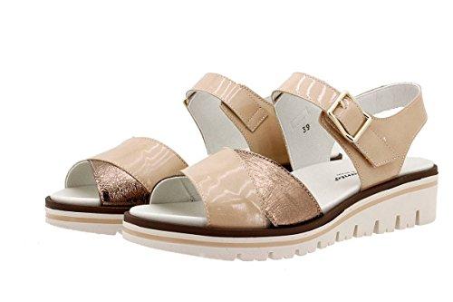 Chaussures Femme Confort Cuir Piesanto 1778 Sandales Plantaires Amovibles Largeur Spéciale Nude