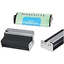 Mascotte Premium calidad de metal de mano Roller–Máquina para hacer cigarrillos 70mm–1Máquina con 3d marcapáginas se venden por Trendz