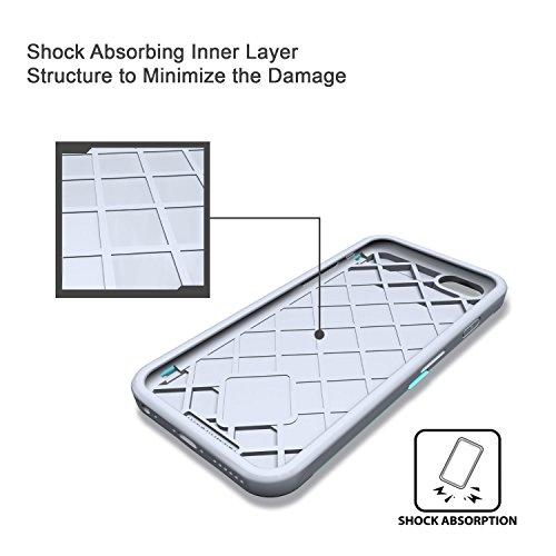 iPhone 6S Plus Hülle, TORU [CX PRO Case] [Portemonnaie] Handyhülle für iPhone 6S Plus Brieftasche Hülle - [Kartenfach][Ständer][Schutzhülle] Handyhülle mit verstecktes Spiegel - Gunmetal Marble Stone