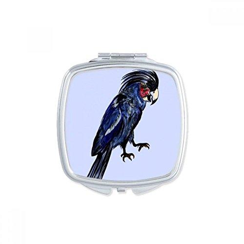 DIYthinker Deep Blue Parrot Vogel-Platz Compact Make-up Spiegel Beweglicher Nette Handtaschenspiegel Geschenk -