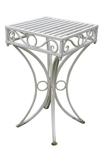 Olive Grove, Beistelltisch oder Untergestell aus Metall, im Versailles-Stil und in antiker weißer Ausführung - Versailles Olive