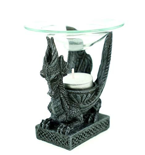 Vogler 766-3001 Duftlampe Kleiner Drache 12 cm Figur Teelicht Dragon Figur