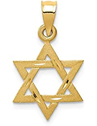 14k Yellow Gold Solid Jewish Jewelry Star Of David Pendant Charm Necklace Religious Judaica Fine Jewelry For Women Gift Set