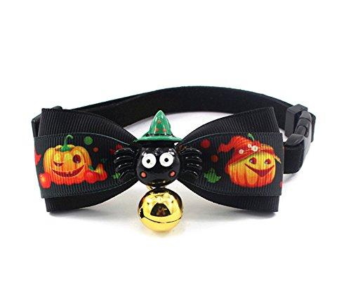 Kann Lucky Halloween Kleine Hunde, Bow Ties Pet Cat Bowties Halsband für Weihnachten, M, Schwarz 2
