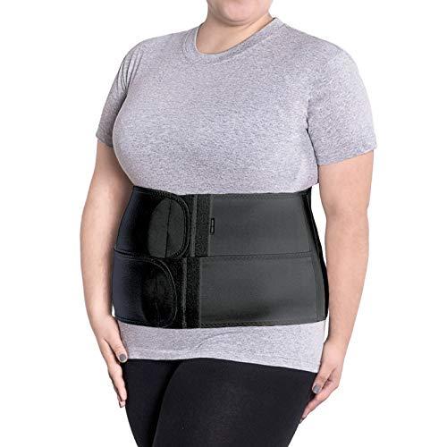 Fascia post operatoria-fascia dopo parto-fascia contentiva- cintura- pancera addominale per compressione-fascia lombare elastica x-large nero