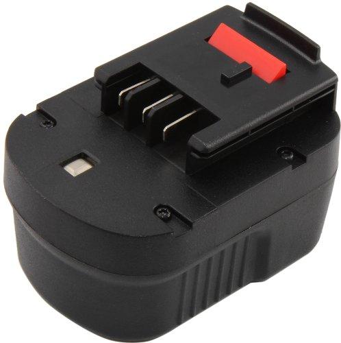 Mitsuru® 2000mAh NI-MH 12V Akku Batterie für Black & Decker A1712 FS120B FSB12 HPB12 A12 A12-XJ A12EX FS120B FSB12 (Radio Decker Black Und)