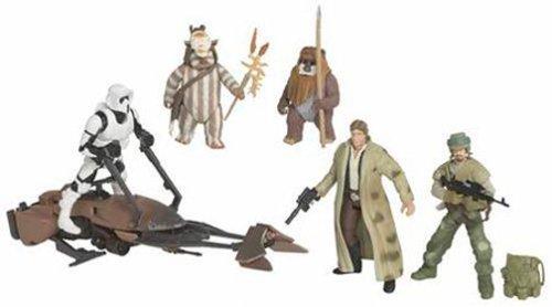 Preisvergleich Produktbild Battle Pack Endor Ambush Return of the Jedi mit Biker Scout & Speeder Bike, Ewok Logray, Wicket , Rebel Trooper & Han Solo