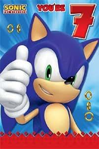 Sonic Hedgehog L'âge Carte d'anniversaire 7