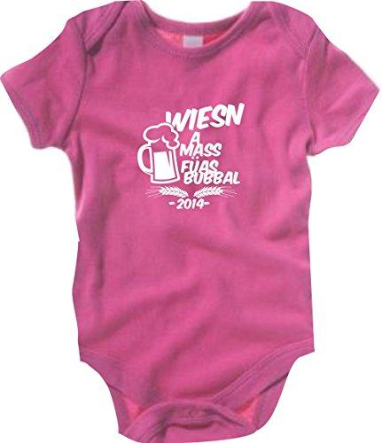 Krokodil Baby Body Wiesn A MASS FÜAS BUBBAL Oktoberfest Farbe pink, Größe 12-18 Monate