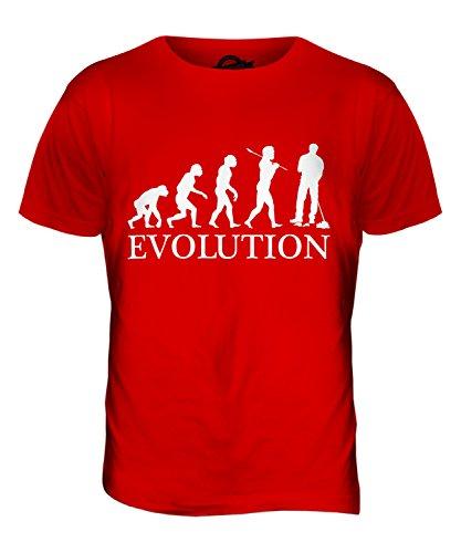 CandyMix Hausmeister Parkwächter Evolution Des Menschen Herren T Shirt Rot