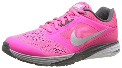 Nike Tri Fusion Run, Running Femme Rose (Hypr Pnk/Mtlc Pltnm-Drk Gry-Wh)