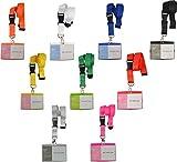 Schlüsselband Lanyard mit Kartenhülle Ausweishalter Namensschild Ausweishülle neu (pink)