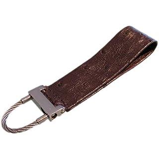 Mini Key-Chain, Long, Narrow, Strap, from Genuine Ostrich Leather - 9 x 2.5 cm - Nico Tine