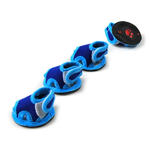 Zunea - Zapatillas antideslizantes transpirables de verano para perros pequeños, zapatos antideslizantes,...
