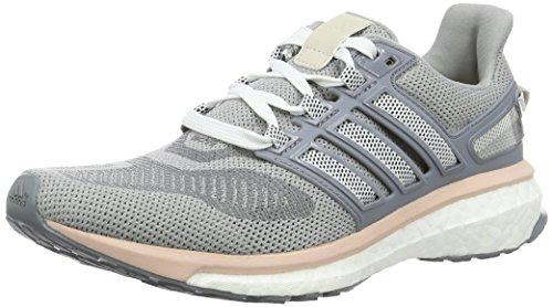 adidas Damen Energy Boost 3 Laufschuhe, Grau (Mid Grey/Night Navy/Vapour Pink), 36 2/3 EU
