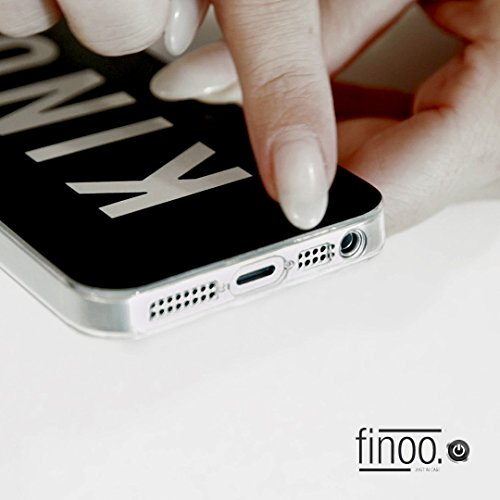 FINOO | Silikon-Handy-Case für iPhone 5 / 5S | weiche, transparente, flexible Silikon-Handy-Hülle mit verschiedenen modernen Motiven für Apple Smartphone | Newton Blumen rosa