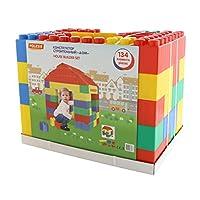 Polesie 37473 House Builder Set-Construction Toy Sets-134-Pieces, Multi Colour