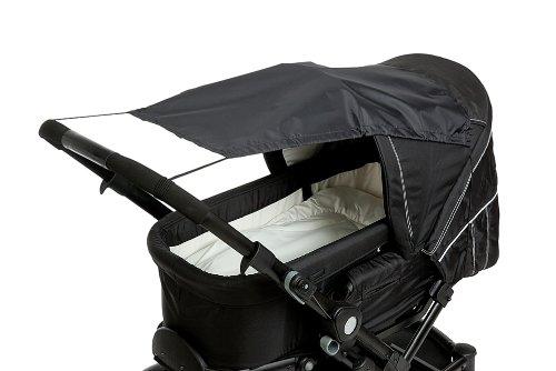 Altabebe AL7010 - 02 Sonnensegel mit UV Schutz für Kinderwagen Buggys, schwarz