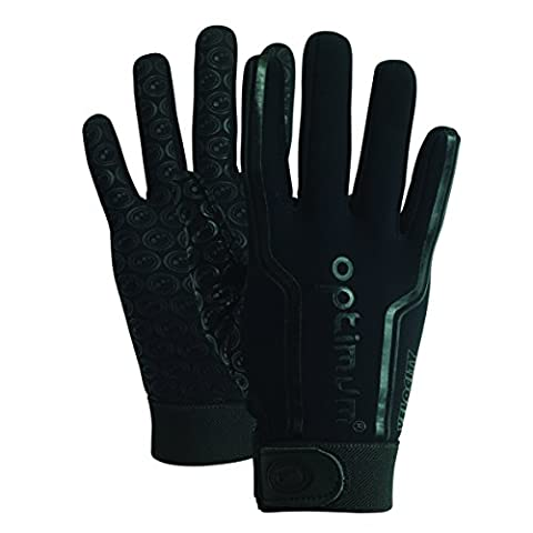 Optimum Velocity Full Finger Boy's Glove, Black (Plain Black) - Mini (4-5 Inch)