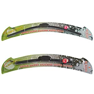 "World Wide GL0081 Combo Pack of Front Wiper Blades For Renault Scala (Set Of 2, 24"" and 14"")"