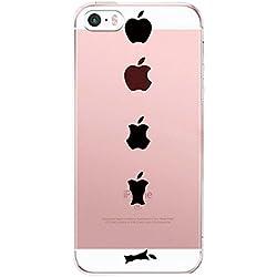 Vanki® Compatible pour Coque iPhone 5/5S/SE, TPU Souple Etui de Protection Silicone Case Soft Gel Cover Anti Rayure Anti Choc pour Iphone5/5S/SE (4)