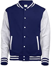 AWDis Just hottes Men's Elle possede Letterman Varsity Veste de baseball