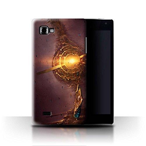 Offiziell Chris Cold Hülle / Case für LG Optimus 4X HD P880 / Raumfahrzeug Muster / Galaktische Welt Kollektion