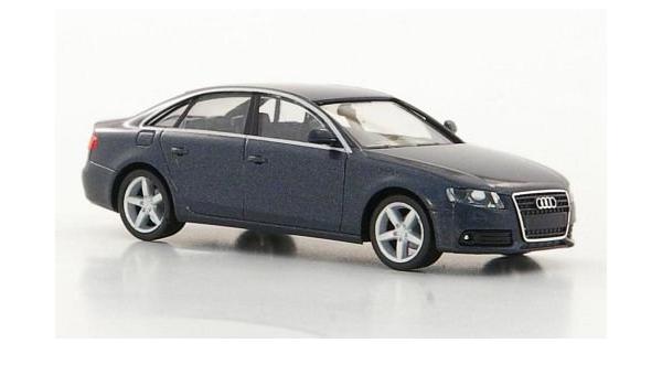 Audi A4 Met Dkl Grau Modellauto Fertigmodell Herpa 1 87 Spielzeug