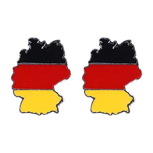 BESTOYARD Nationalflagge Emaille Brosche Revers Pin Brosche für Patriotischen Schmuck Kostüm Dekoration für Männer und Frauen (Deutschland Flagge Muster) 2 Stücke