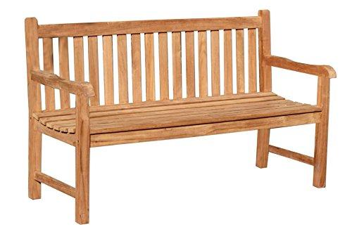 Gartenbank PICADELLY 3-Sitzer 150 cm aus Teak Holz Bank Holz