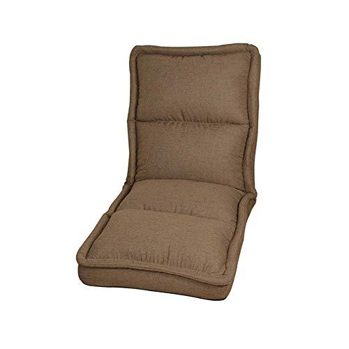 Bequem Bodenstuhl Gaming Seat- Boden Sofa Stuhl, Folding Faul mit Rückenlehne Einstellbare Lehnstuhl Seating for Wohnzimmer-Spiel und Freizeitraum, Beige-S ( Color : Darkcoffee , Size : Large )