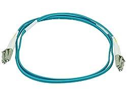 Monoprice 106385 1-Meter LC/LC Multi Mode Duplex 10GB Fiber Optic Cable - Aqua